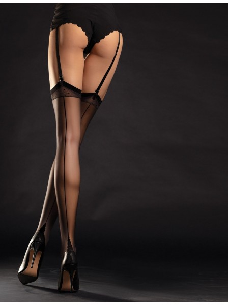 Fiore calze: Diva calze da reggicalze 20 denari con riga e cuban heel Fiore in vendita su Tangamania Online