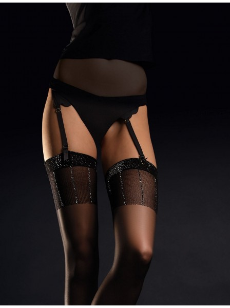 Hypnose calze da reggicalze 20 denari con balza lurex Fiore in vendita su Tangamania Online