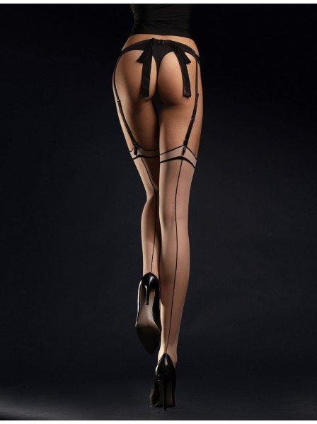 Madame calze da reggicalze con riga 20 denari in due colori Fiore in vendita su Tangamania Online
