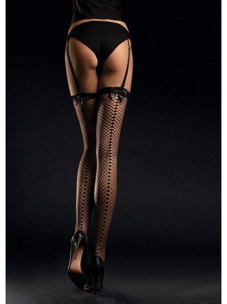 Satine calze da reggicalze a rete Fiore in vendita su Tangamania Online