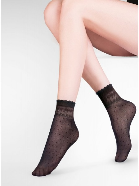 Calzini neri modello Pia Gabriella in vendita su Tangamania Online