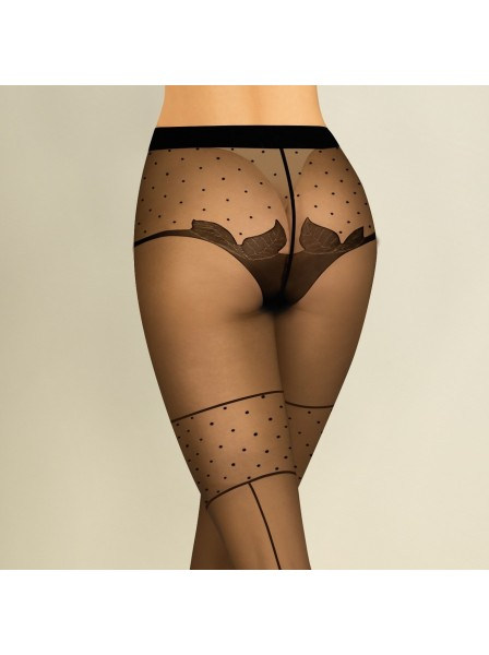 Collant decorati modello Lilly in due colori Gabriella in vendita su Tangamania Online