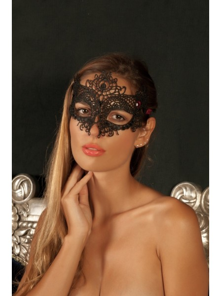 Maschera semi rigida in pizzo con pietra rossa Amore Intenso in vendita su Tangamania Online