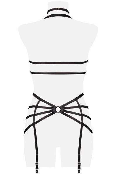 Set imbracatura reggicalze con anelli metallici Grey Velvet in vendita su Tangamania Online