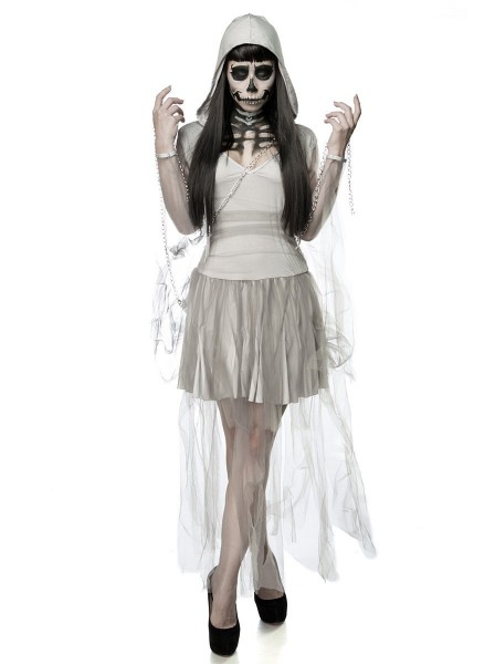 Halloween: costume da scheletro fantasma Mask Paradise in vendita su Tangamania Online