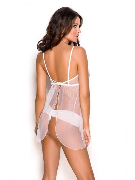 Kaylee Sexy chemise in tulle trasparente aperta sul seno Anais in vendita su Tangamania Online