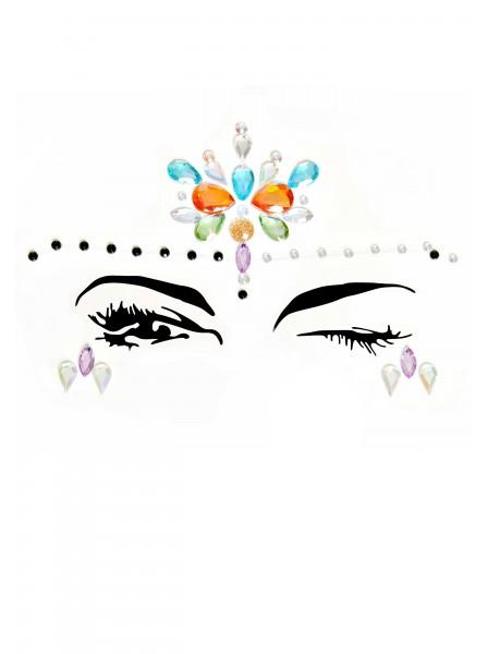 Adesivi gioiello per il viso multicolor Leg Avenue in vendita su Tangamania Online