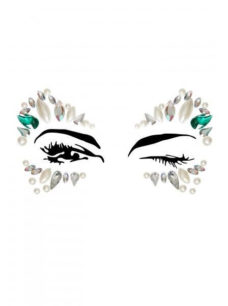 Adesivo gioiello per il viso dai colori freddi Leg Avenue in vendita su Tangamania Online