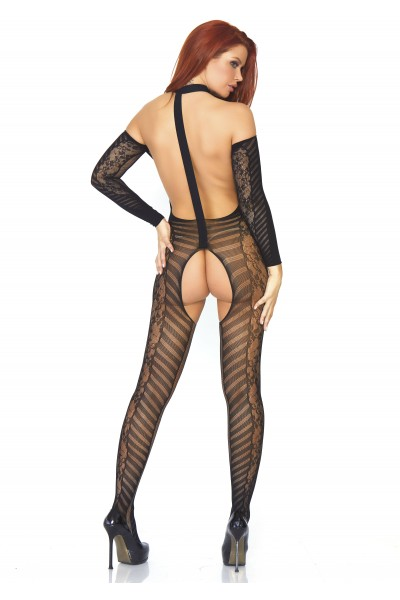 Bodystocking ad imbracatura aperta all'inguine Leg Avenue in vendita su Tangamania Online