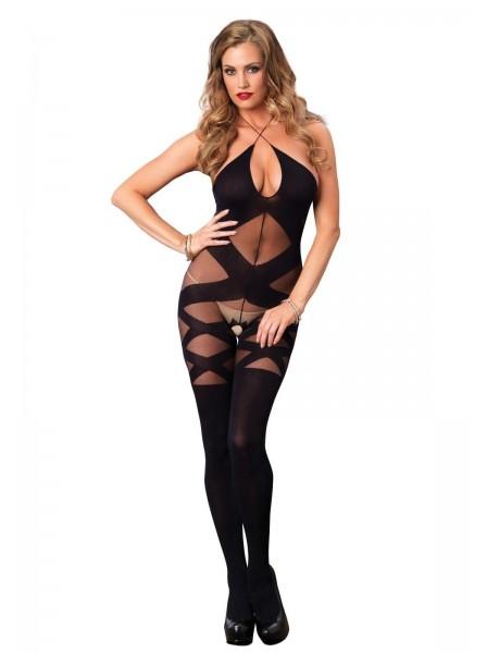 Bodystocking aperta all'inguine con sexy scollatura Leg Avenue in vendita su Tangamania Online