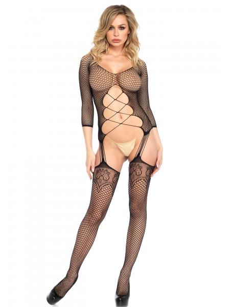Bodystocking aperta con sexy scollatura Leg Avenue in vendita su Tangamania Online