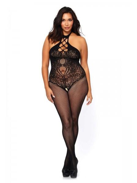 Bodystocking apertaPLUS SIZE con schiena nuda Leg Avenue in vendita su Tangamania Online