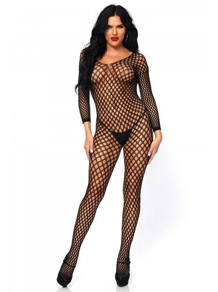 Bodystocking in rete a maniche lunghe Leg Avenue in vendita su Tangamania Online