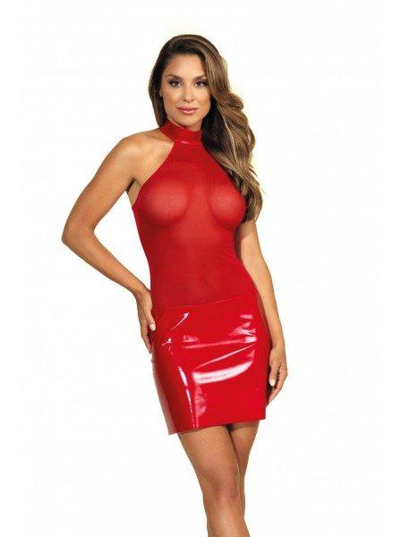 Abitino schiena nuda in tulle e latex rosso Axami Lingerie in vendita su Tangamania Online