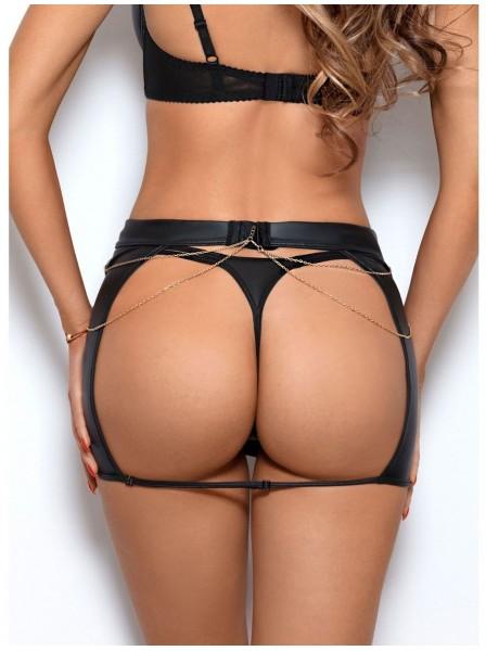 Gonna in ecopelle con sexy apertura posteriore Axami Lingerie in vendita su Tangamania Online