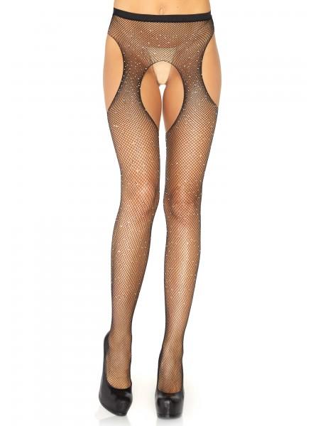 Collant lurex aperti all'inguine in due colori Leg Avenue in vendita su Tangamania Online
