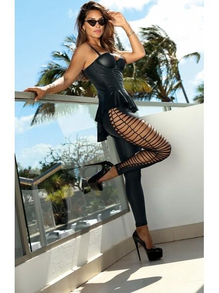 Leggings in ecopelle con sexy tagli Axami Lingerie in vendita su Tangamania Online