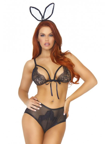 Costume da coniglietta 3 pezzi con mutandine aperte Leg Avenue in vendita su Tangamania Online