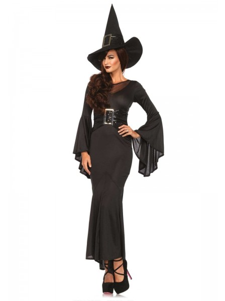 Costume da strega con abito a campana Leg Avenue in vendita su Tangamania Online