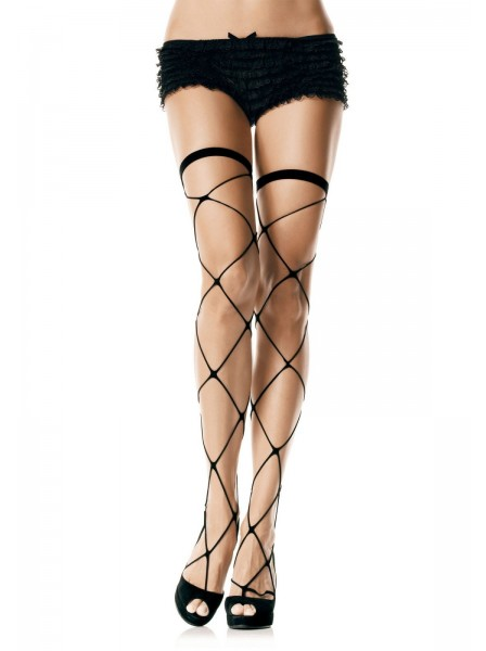 Essenziali calze autoreggenti a rete larga Leg Avenue in vendita su Tangamania Online
