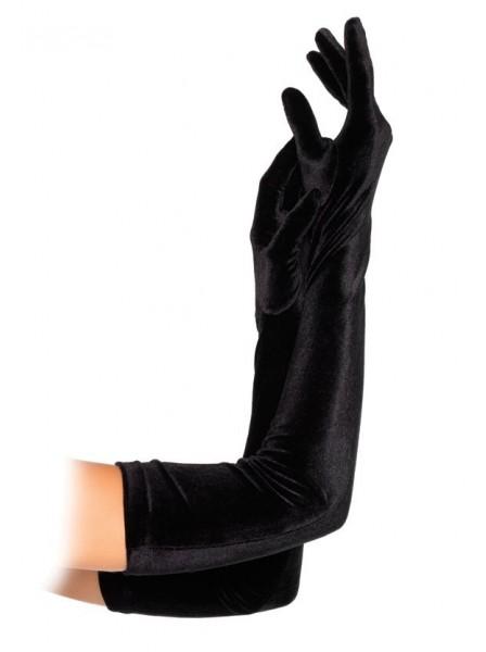 Guanti lunghi in velluto nero Leg Avenue in vendita su Tangamania Online