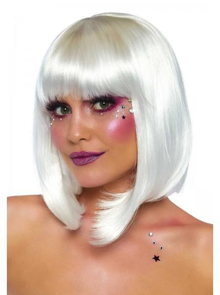 Parrucca bianca perlata Leg Avenue in vendita su Tangamania Online