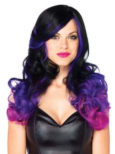 Parrucca lunga con capelli ondulati bicolore Leg Avenue in vendita su Tangamania Online
