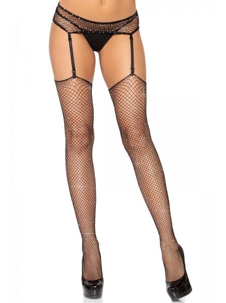 Reggicalze e calze a rete con strass Leg Avenue in vendita su Tangamania Online