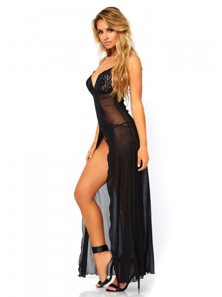 Sexy abito nero con spacco centrale Leg Avenue in vendita su Tangamania Online