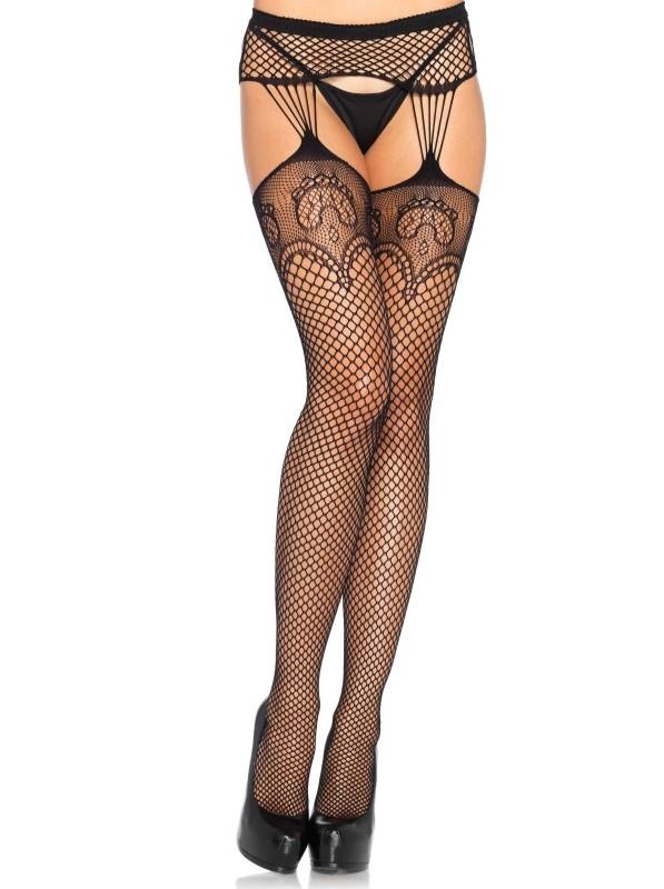 Sexy collant giarrettiera a rete Leg Avenue in vendita su Tangamania Online