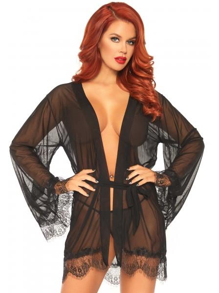 Vestaglia in tulle nero Leg Avenue in vendita su Tangamania Online
