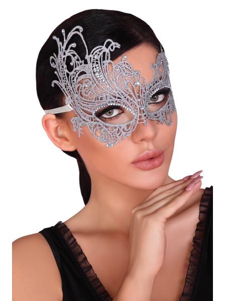 Maschera argentata con strass Livia Corsetti in vendita su Tangamania Online