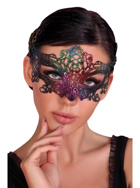 Maschera in pizzo arcobaleno Livia Corsetti in vendita su Tangamania Online