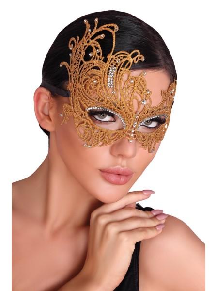 Maschera dorata con strass Livia Corsetti in vendita su Tangamania Online