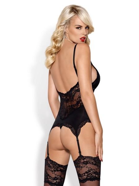 810 corsetto e perizoma nero Obsessive Lingerie in vendita su Tangamania Online