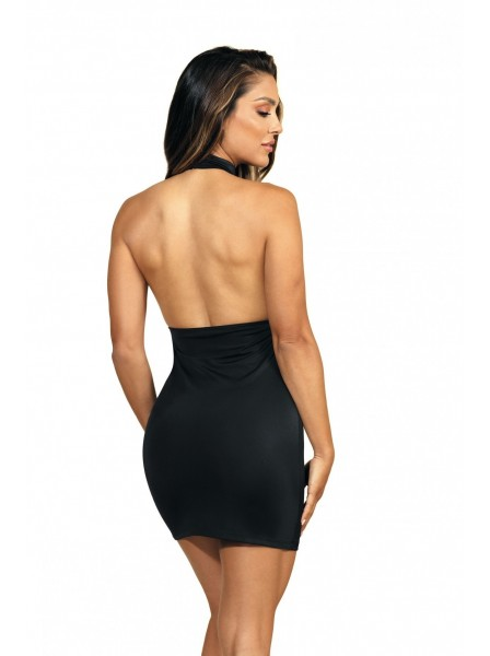 Sexy abitino nero con allacciatura dietro il collo e schiena nuda Axami Lingerie in vendita su Tangamania Online