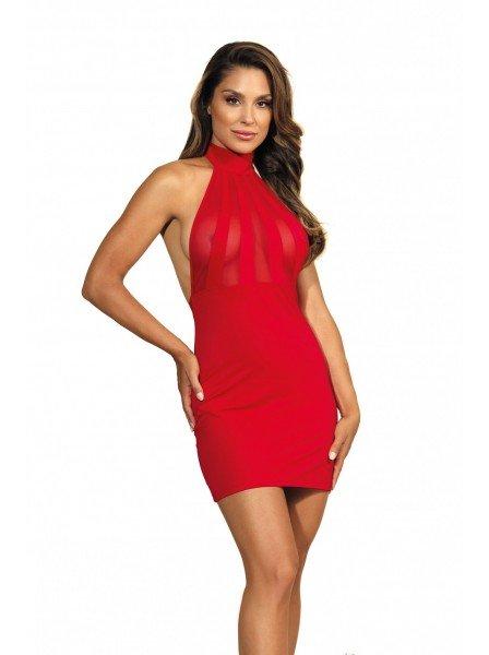 Sexy abitino rosso con allacciatura dietro il collo e schiena nuda Axami Lingerie in vendita su Tangamania Online
