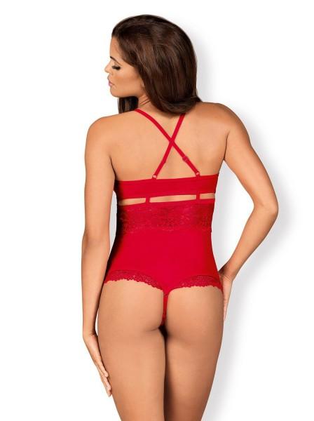 838 body a perizoma aperto all'inguine rosso Obsessive Lingerie in vendita su Tangamania Online