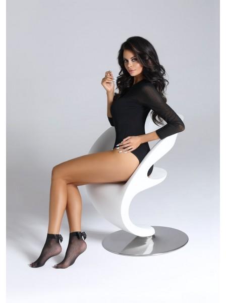 Ditta calzini a rete con fiocco in raso in tre colori BasBleu in vendita su Tangamania Online