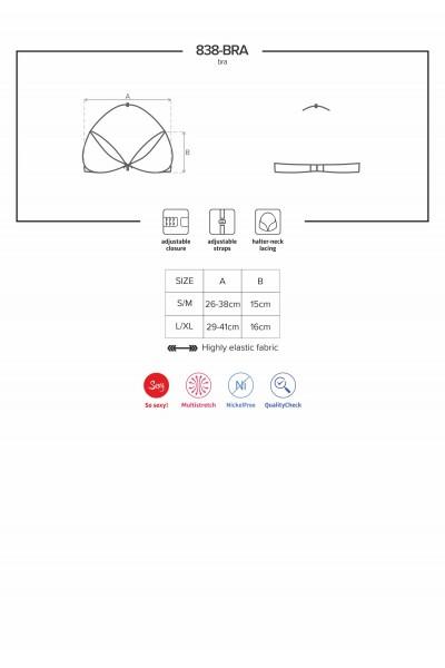838 reggiseno in pizzo rosso con gioiello Obsessive Lingerie in vendita su Tangamania Online