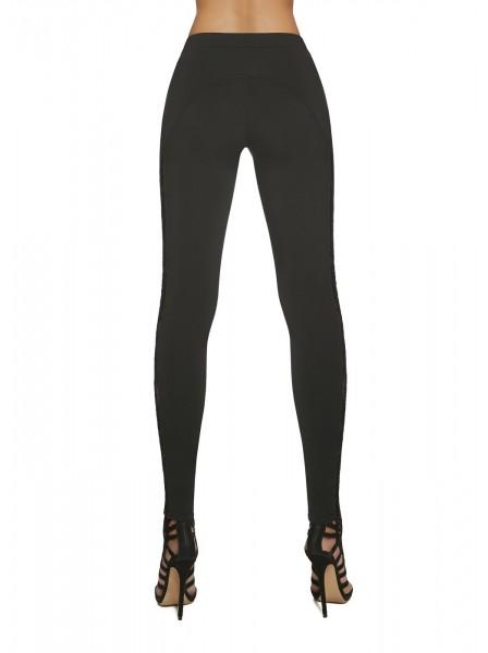Meloe leggings in maglia con inserto in pizzo BasBleu in vendita su Tangamania Online