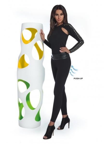 Simini leggings in maglia con cintura in eco pelle BasBleu in vendita su Tangamania Online
