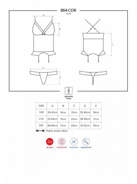 864 corsetto e perizoma Obsessive Lingerie in vendita su Tangamania Online