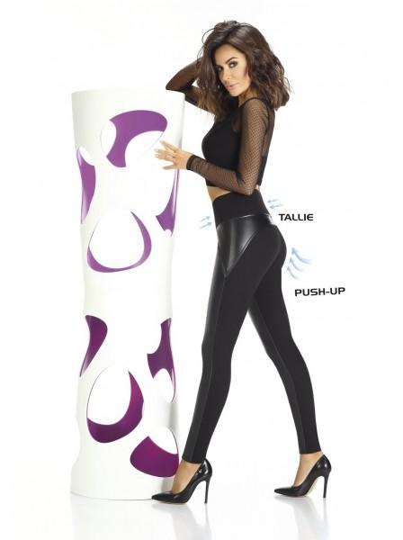 Spencer leggings push up in ecopelle e maglia elastica BasBleu in vendita su Tangamania Online