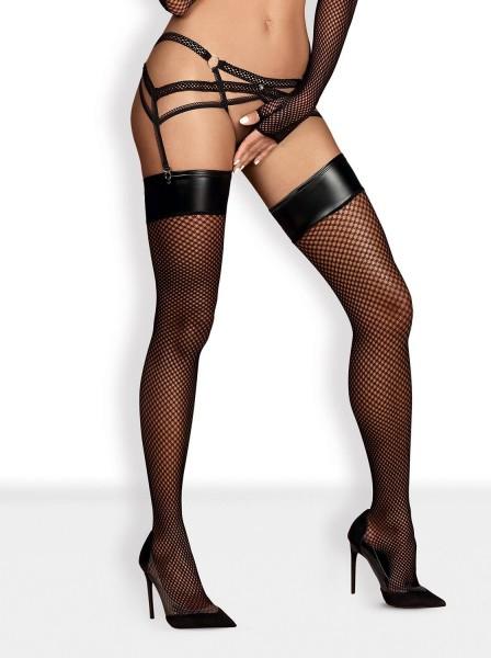 Darkie calze da reggicalze con balza lucida Obsessive Lingerie in vendita su Tangamania Online