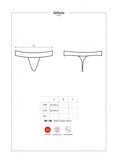 Giftella sexy perizoma con fiocco posteriore Obsessive Lingerie in vendita su Tangamania Online