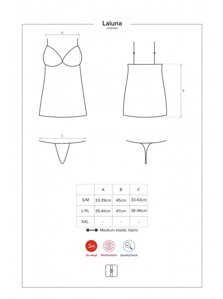 Laluna chemise e perizoma Obsessive Lingerie in vendita su Tangamania Online