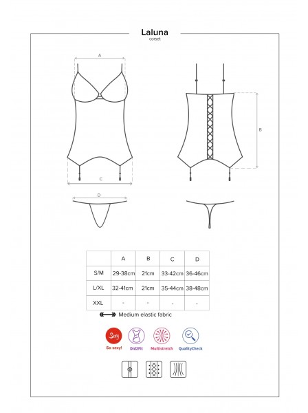 Laluna corsetto e perizoma Obsessive Lingerie in vendita su Tangamania Online