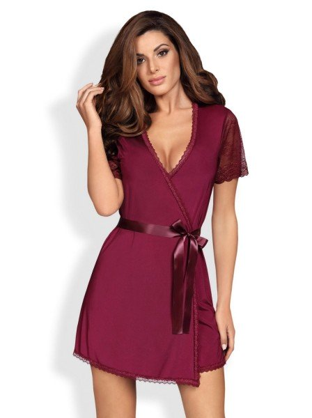 Miamor vestaglia e perizoma rosso rubino Obsessive Lingerie in vendita su Tangamania Online