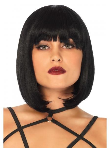 Parrucca nera con frangia Leg Avenue Leg Avenue in vendita su Tangamania Online